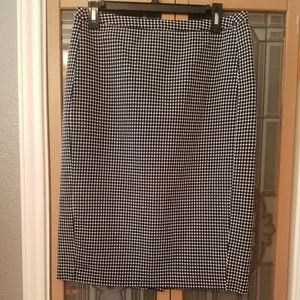 Merona Black and White Dot Pencil Skirt, 10